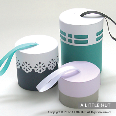 Ribbon handle boxes