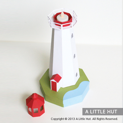 Lighthouse gift box/ tea light holder