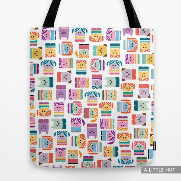 alittlehut-box-peeps-tote-bag