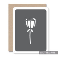 Single flower card