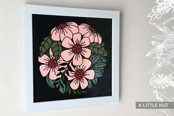 Flowers all around wall art