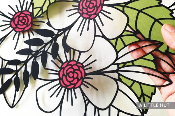 Flowers all around wall art