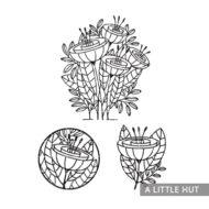 a-little-hut-flower-quartet