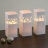 Trio tea light covers