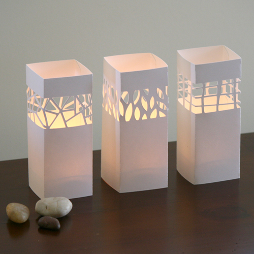 Trio tea light covers