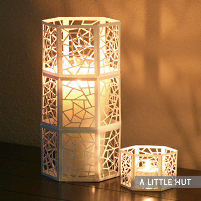Hexagon candle cover
