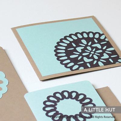 Floral stationery set