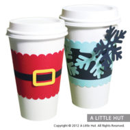 Christmas coffee cup sleeves