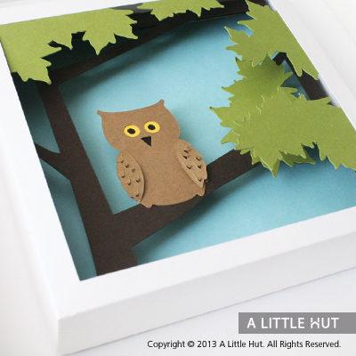 Owl wall art