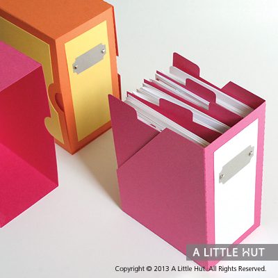Magazine card box