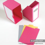 Magazine card box