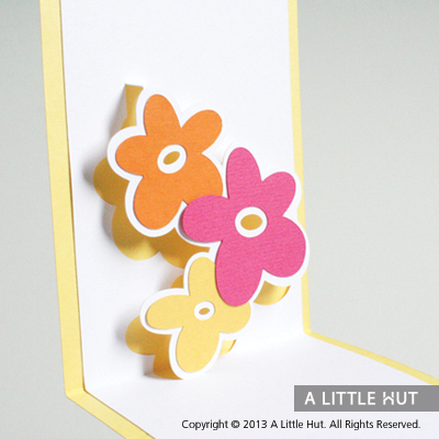 Floral trio pop-up card