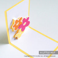 Floral trio pop-up card