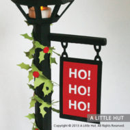 Christmas lamppost gift box