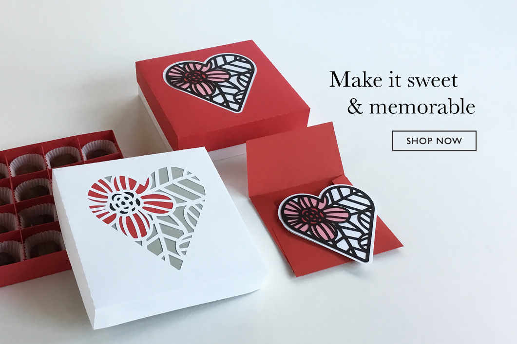 A Little Hut Valentine's Day SVG files and paper projects