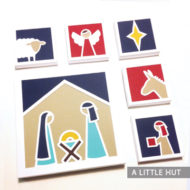 Nativity paper quilt SVG files by Patricia Zapata for A Little Hut