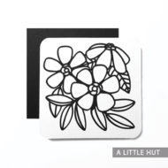 Flowers square card