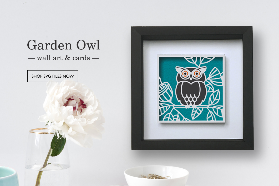 Garden Owl Gift Set SVG files by Patricia Zapata for A Little Hut