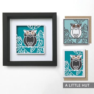 Garden Owl Gift Set SVG files by A Little Hut