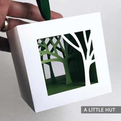Tree Shadows Ornament by Patricia Zapata for A Little Hut.