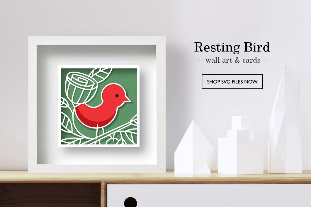 Resting Bird Gift Set SVG files by A Little Hut