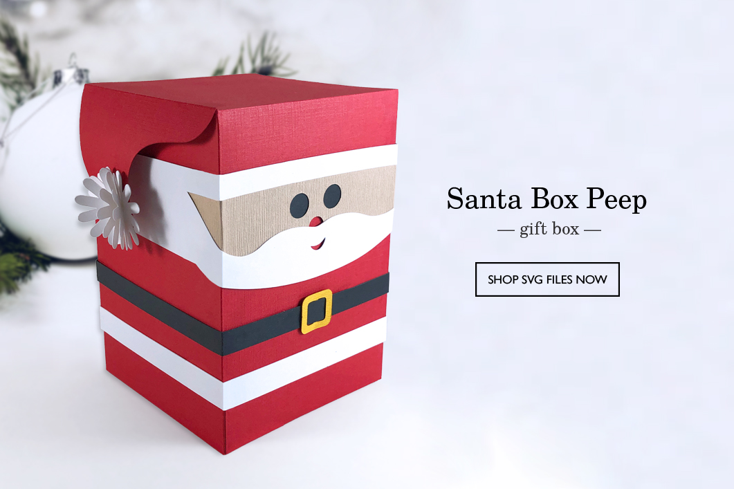 A Little Hut SVG files - Santa Box Peep Gift Box