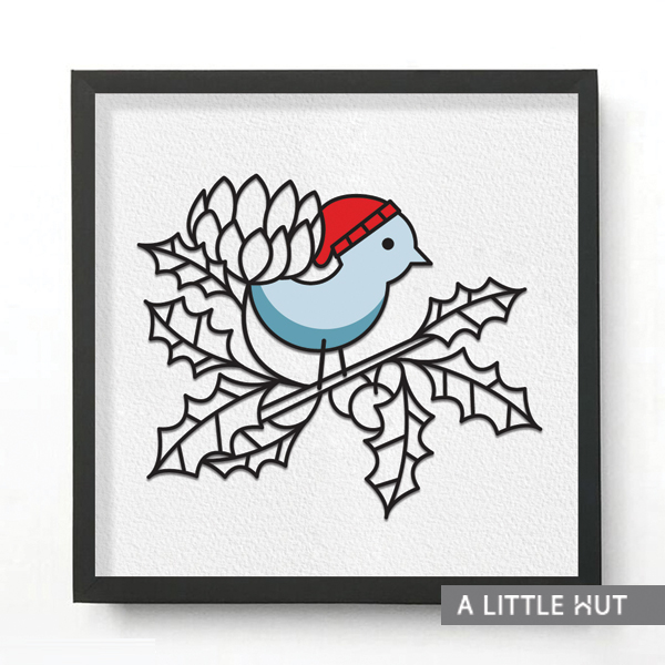 Winter Bird Wall Art - by Patricia Zapata for A Little Hut