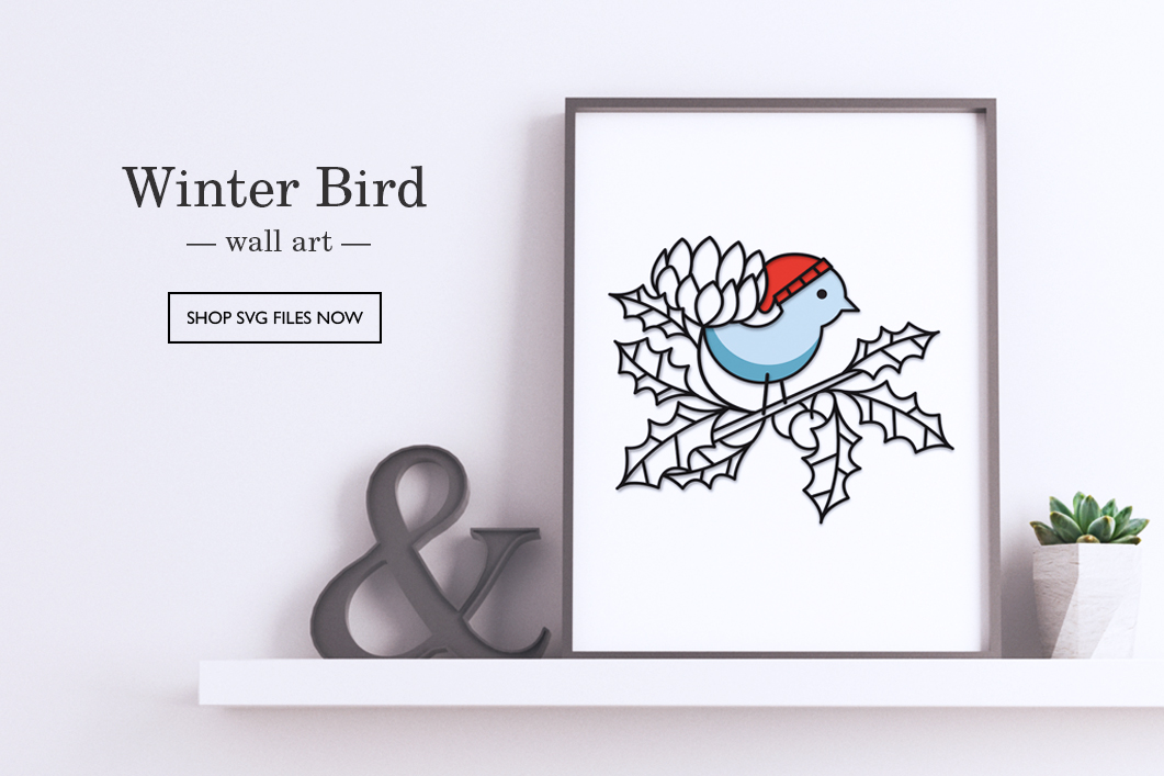 Winter Bird Wall Art by Patricia Zapata for A Little Hut