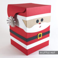Santa Box Peep gift box by Patricia Zapata for A Little Hut