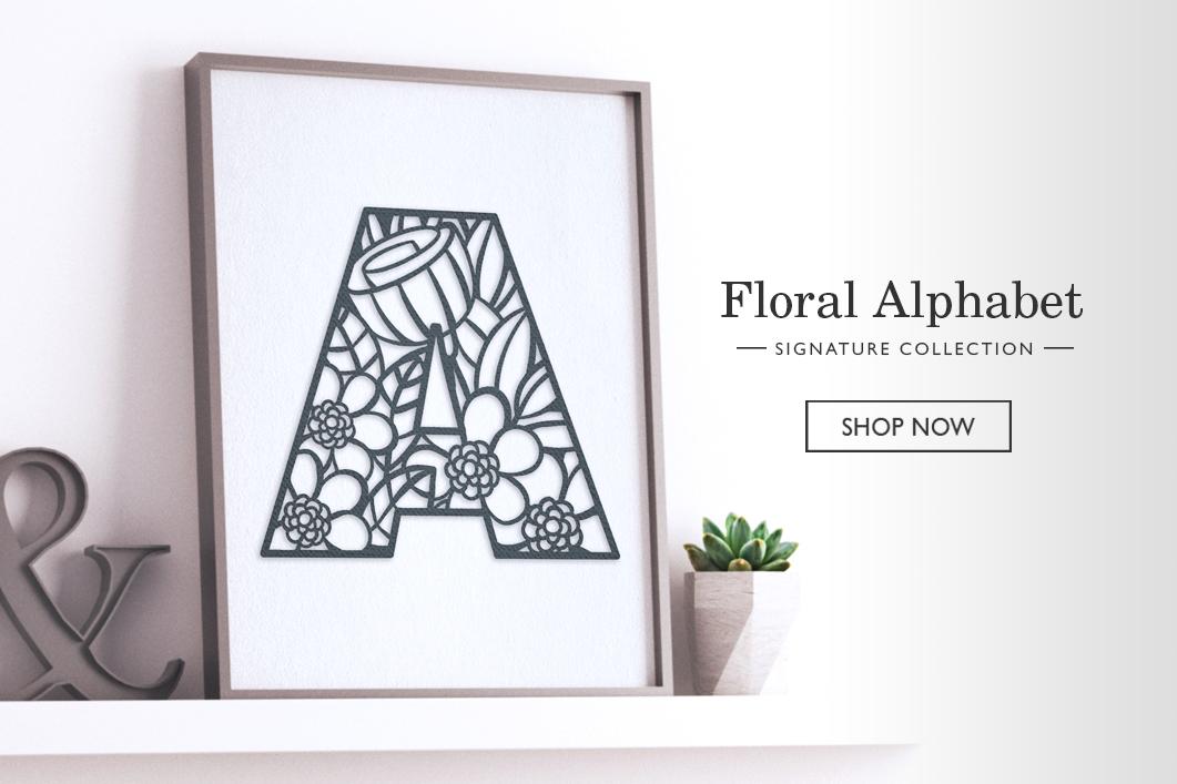 A Little Hut Signature Collection- Floral Alphabet
