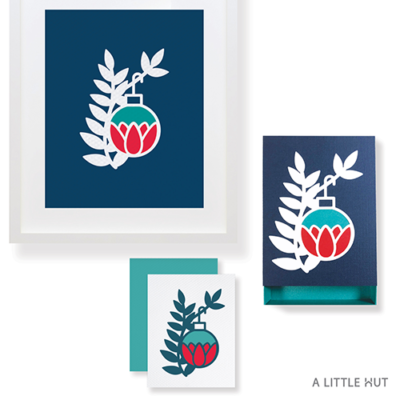 A Little Hut SVG files - Petals ornament matchbox gift set