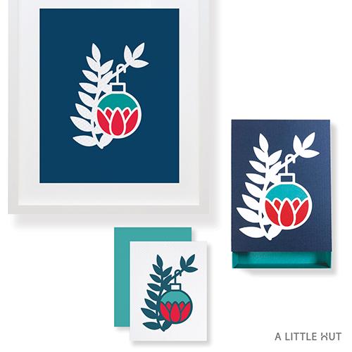 A Little Hut SVG files - Petals ornament matchbox gift set