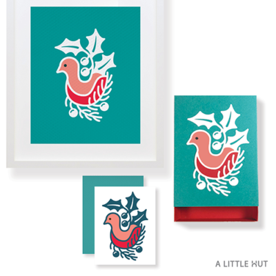 A Little Hut SVG files - Winter Bird