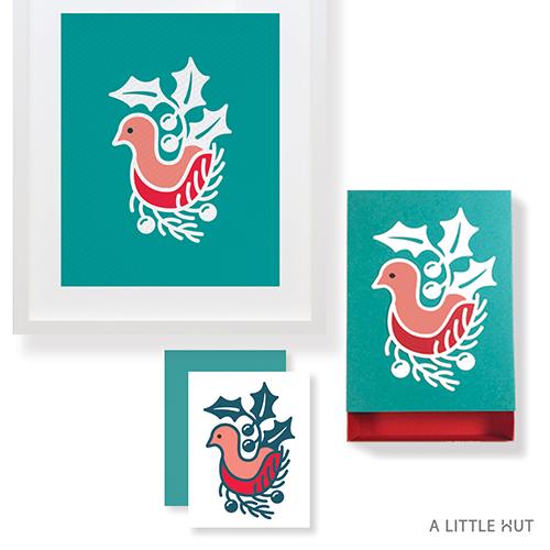 A Little Hut SVG files - Winter Bird