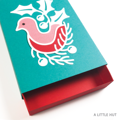 A Little Hut SVG files - Winter bird matchbox