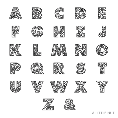 A Little Hut Floral Alphabet SVG files