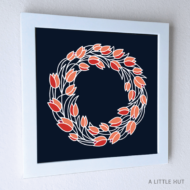 Tulips Wreath Wall Art - ALittleHut.com