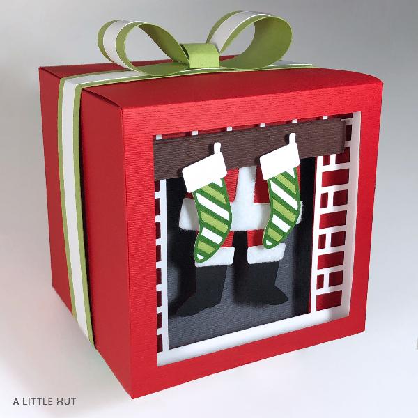 Santa Is Here Shadow Gift Box