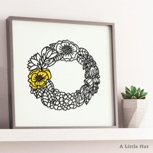 A Little Hut - Spring Wreath