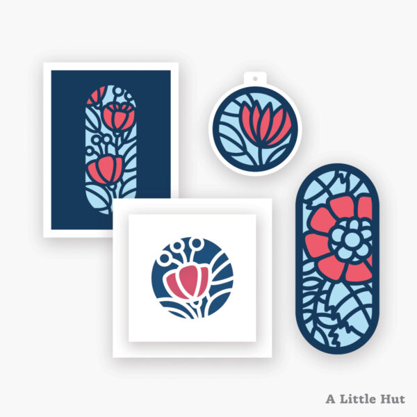 Madeline cards and bookmarks set